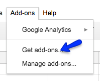 Finding add-ons inside of a Google application