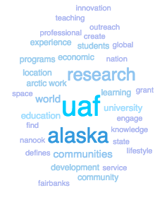 Word cloud from UAF mission statement