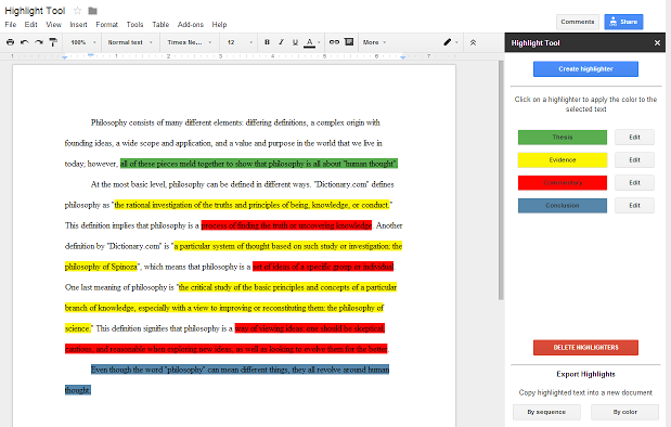 Create specific highlight colors to have meaning and share your highlighted materials and your highlighters.