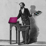 speaker at a lectern holding a text