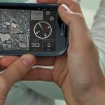 image of hand held GPS device