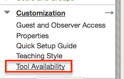 Tool availability option in Blackboard