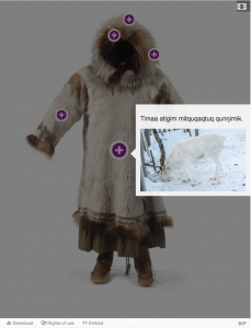 Image hotspot of the traditional parka.