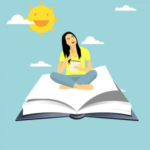 girl flying on a book - how to manage your open course