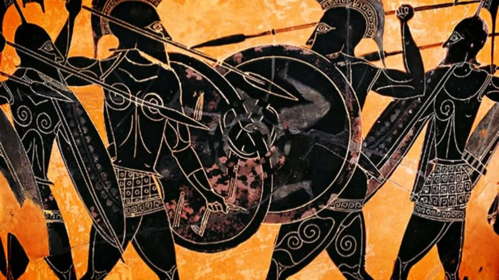 Immersive roleplay can bring your subject alive and engage your students like no other learning activity. This image shows ancient Greeks fighting with swords and shields.