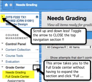 Reduce scrolling by compressing the top class navigation elements