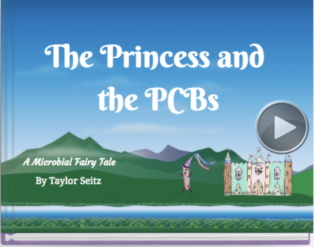 The Princess and the PCBs' by student Taylor Seitz, one of several children's storybooks developed by students about the use of microbes to remediate contaminants.