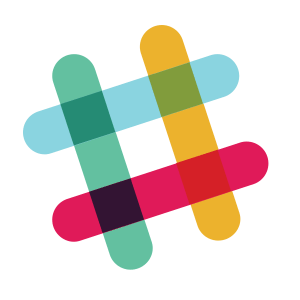 the Slack logo four lines overlapping to make a hash tag or number sign