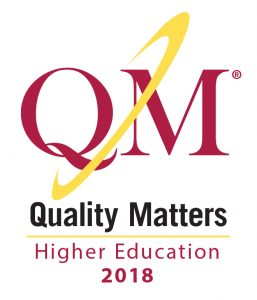 Quality Matters Higher Education Certification 2018 logo