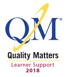 Quality Matters Learner Support Certification 2018 logo