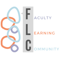"Colorful, overlapping drawn circles with the words ""Faculty Learning Community"" next to them"
