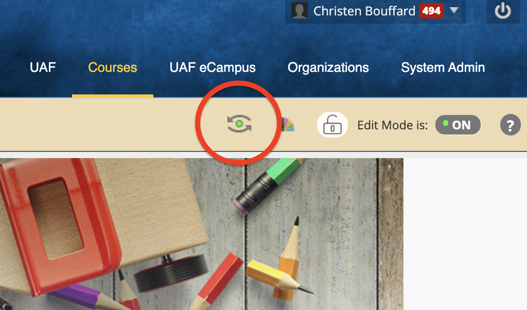 Student Preview button with a red circle around it